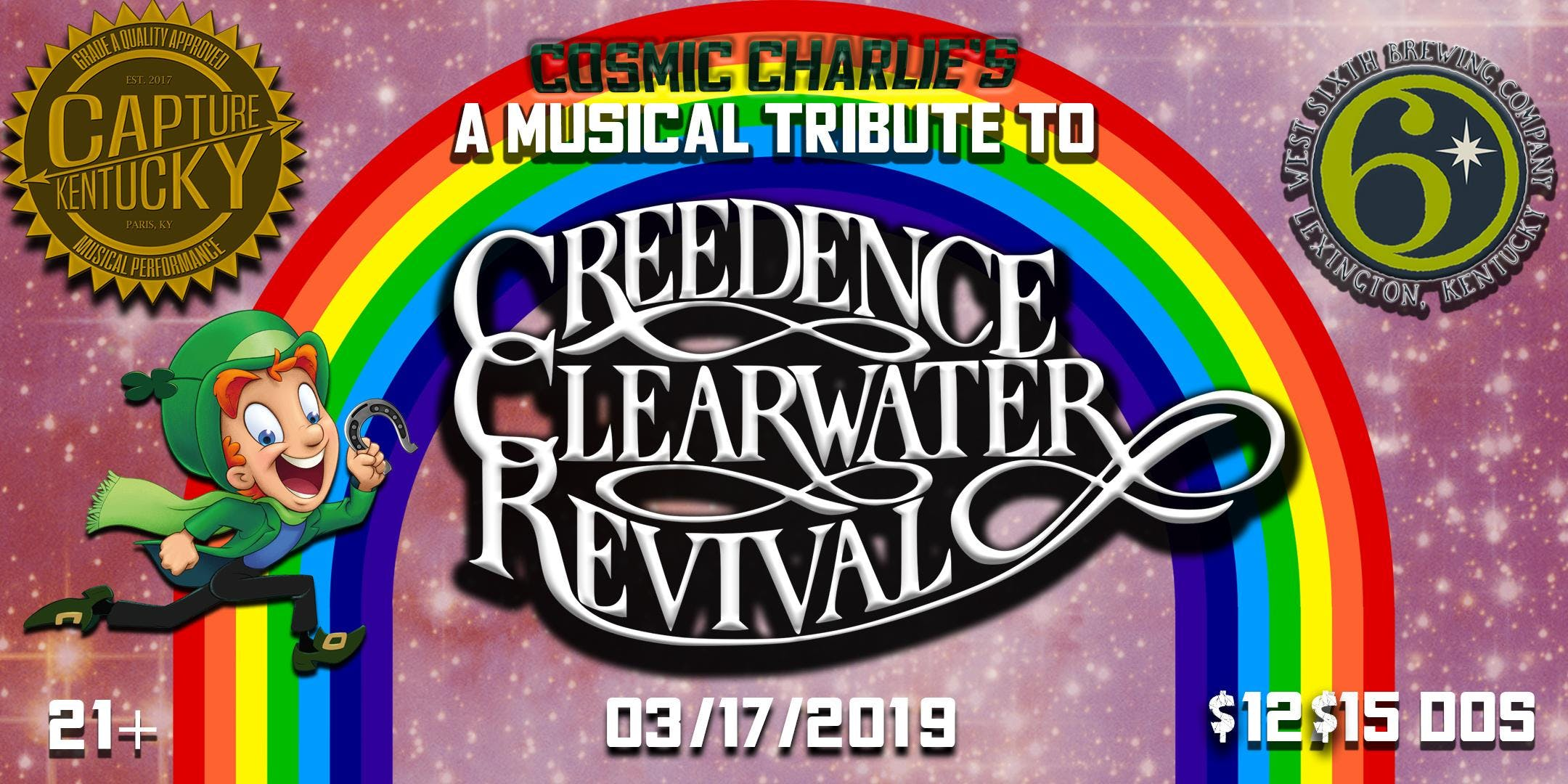 St  Patty's Day Creedence Clearwater Revival Tribute - 17 MAR 2019