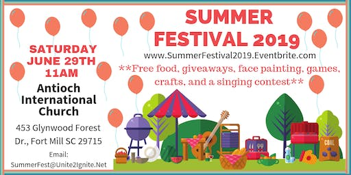 "3rd Annual Summer Festival 2019  ""Welcome To Fort Mill"""