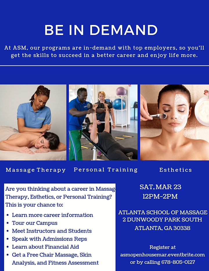 Open House at Atlanta School of Massage image