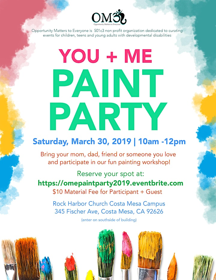 You + Me OME Paint Party image