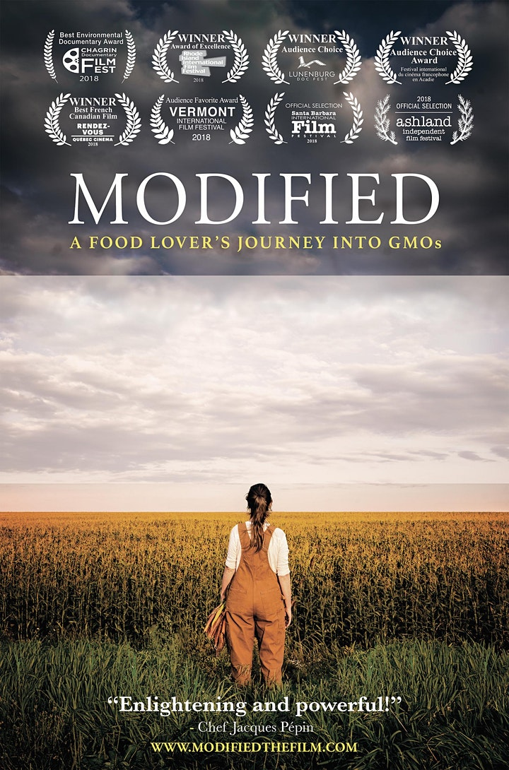 """Modified: A Food Lover's Journey into GMOs"" Film Screening and Q&A image"