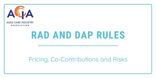 RAD and DAP Rules - Pricing, Co-Contributions and Risks
