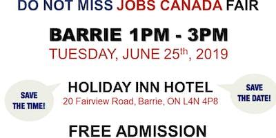 FREE: Barrie Job Fair – June 25th, 2019