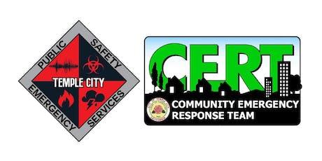 Temple City CERT Basic Training - Class #013 tickets