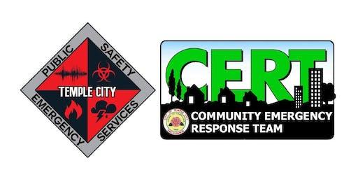Temple City CERT Basic Training - Class #013