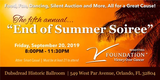"5th Annual ""End of Summer Soiree"""