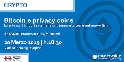 BITCOIN E PRIVACY COINS La privacy è importante nelle criptomonete come nel nuovo Grin