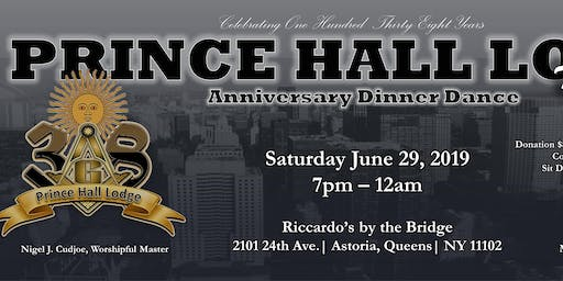 Prince Hall No.38 138th Anniversary Dinner Dance