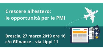 Workshop | Crescere all'estero: le opportunità per le PMI