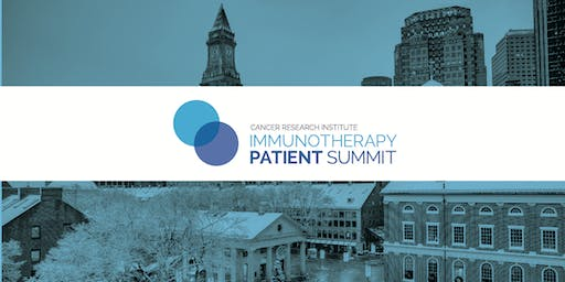 CRI Immunotherapy Patient Summit - Boston
