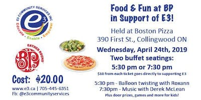 Food & Fun at BP in Support of E3!