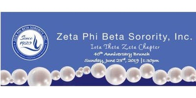 Zeta Phi Beta Sorority Inc, Iota Theta Zeta 40th Chapter Anniversary Brunch