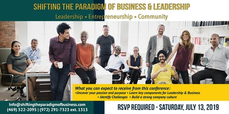 Shifting the Paradigm of Business & Leadership 2019 tickets