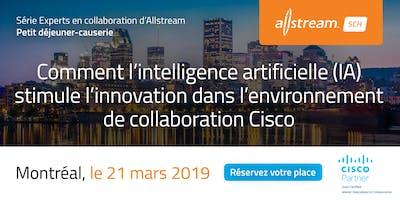Petit déjeuner gourmet d'Allstream et Cisco –  IA et collaboration