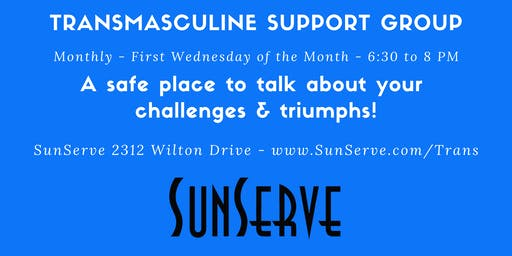 Transmasculine Support Group - Monthly