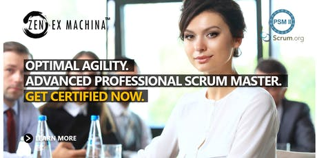 Advanced Scrum Master Class (PSM II) for team level Agile Coaches - Canberra tickets