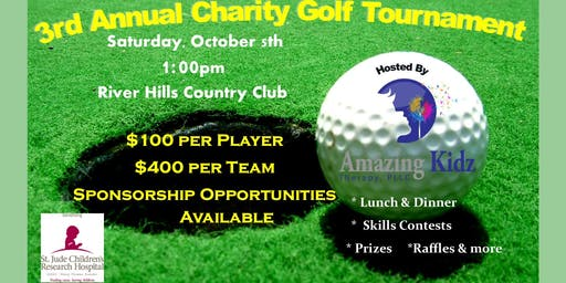 3rd Annual Amazing Kidz Therapy Charity Golf Tournament