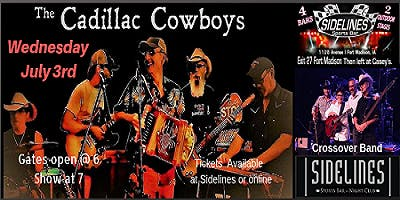 Ken Carlyle & The Cadillac Cowboys on the Main Stage at Sidelines