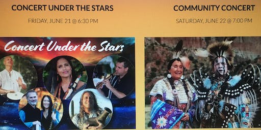 2 NATIVE FLUTE CONCERTS - Under the Stars!  FREE!