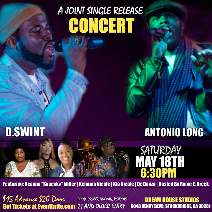 """D.Swint and Antonio Long """"A Joint Single Release Concert"""" image"""