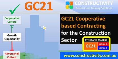 GC21 Editions 2+1 INTEGRATED: COOPERATIVE BASED CONTRACTING for the Construction Sector - 29 July 2019 tickets