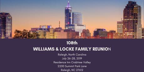 108th Williams-Locke Family Reunion tickets