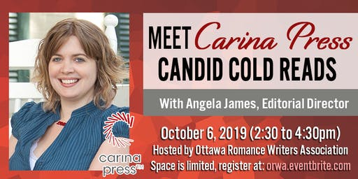 Carina Press in Ottawa: Candid Cold Reads and Q&A with Angela James