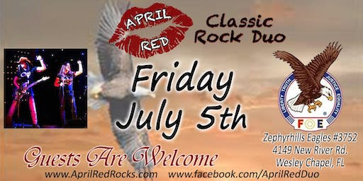 April Red is Back to Rock the Zephyrhills Eagles 3752 in WC!