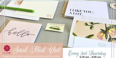 Snail Mail Night at Cute Buttons Gift and Paper