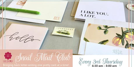 Snail Mail Night at Cute Buttons Gift and Paper  tickets