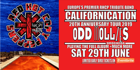 Red Hot Copy Peppers Californication Tour - Odd Mollies Drogheda tickets