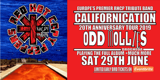 Red Hot Copy Peppers Californication Tour - Odd Mollies Drogheda