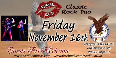 April Red Rockin' the Zephyrhills Eagles 3752 in Wesley Chapel!