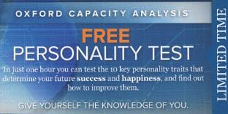 Free Personality Test tickets