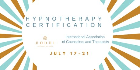 Hypnotherapy Certification IACT  tickets