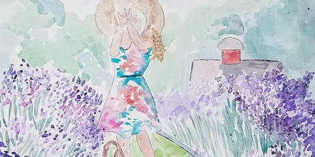 Plein Air Watercolor Painting Event at Orchard View Lavender Farm tickets