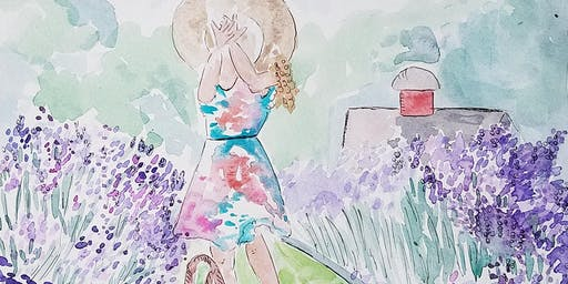 Plein Air Watercolor Painting Event at Orchard View Lavender Farm