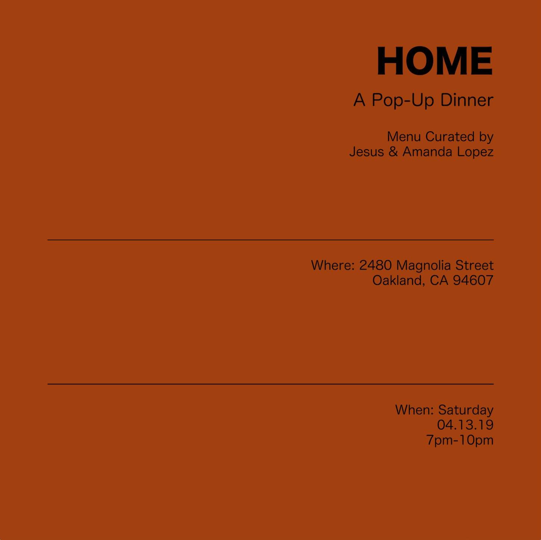 Home - A Pop-Up Dinner