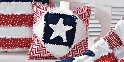 Star Quilt Pillow with Olivia June Creations