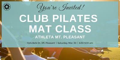 Free Club Pilates Mat Class at Athleta Mt. Pleasant!