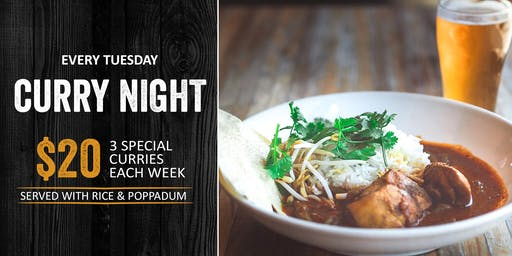 Curry Night - Tuesdays at the Brewhouse