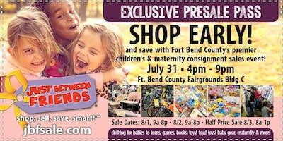 JBF Sugar Land Back to School Huge Kids/Maternity Event: Exclusive FREE PreSale Pass