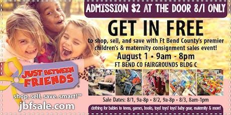 Sugar Land JBF Fall 19 Huge Kids/Maternity Event: Public Sale Pass tickets