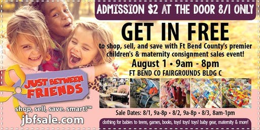 Sugar Land JBF Fall 19 Huge Kids/Maternity Event: Public Sale Pass