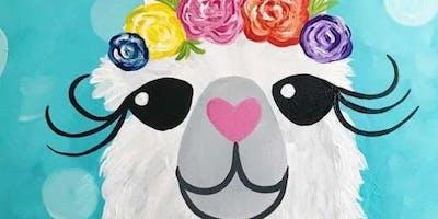 Llama Family Paint It! Class-5/25/19 12-1pm