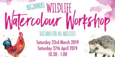 Wildlife Watercolour Workshops - Beginners