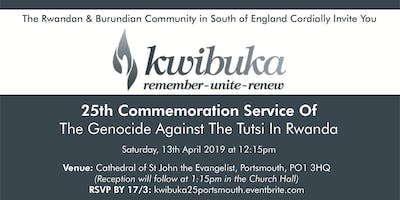 25th Commemoration Of The Genocide Against The Tutsi In Rwanda, Portsmouth