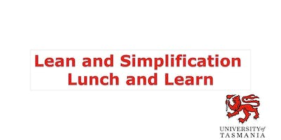 Lean and Simplification Lunch and Learn- What is Lean?