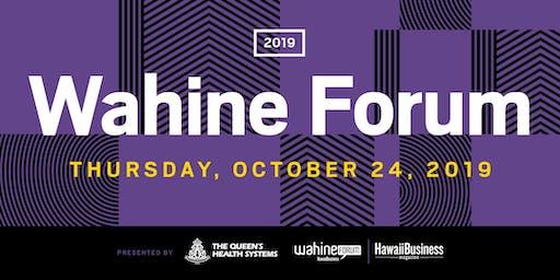 Wahine Forum 2019