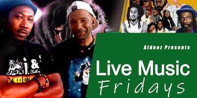 Live reggae band every Friday